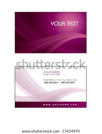 Business Card Template. eps10 - stock vector