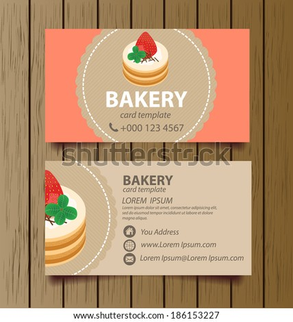 Business card bakery stock images royalty free images vectors business card template for bakery business vector illustration reheart Images