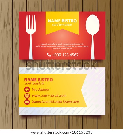 Business Card Template Restaurant Business Vector Stock Vector