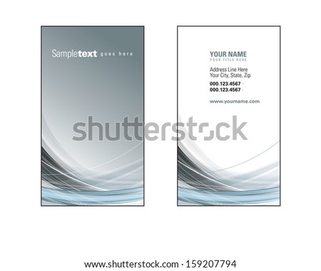 Business Card Template. Front and Back. - stock vector