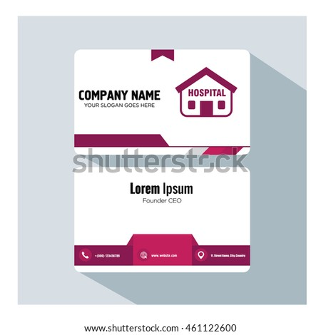 business card template. home icon