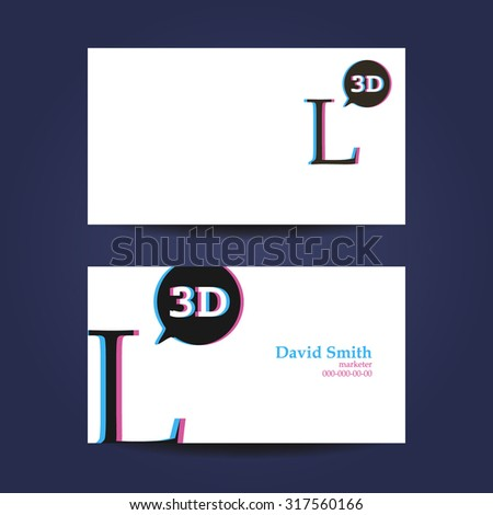 Business card template letter l 3d stock vector 317560166 shutterstock business card template letter l 3d wajeb Gallery