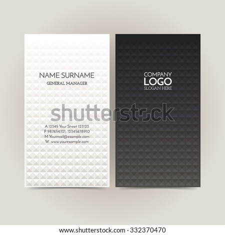 Business card template. Name card abstract background. Vector illustration. - stock vector