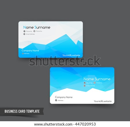business card template set 52 blue ベクター画像素材 447020953