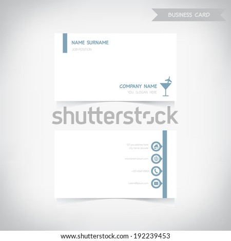 Business card template set2, vector eps10