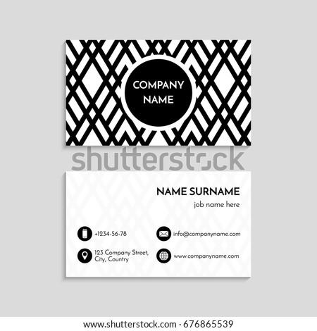 Business card template usa canada standard stock vector royalty business card template usa and canada standard 35 x 2 inches modern colourmoves