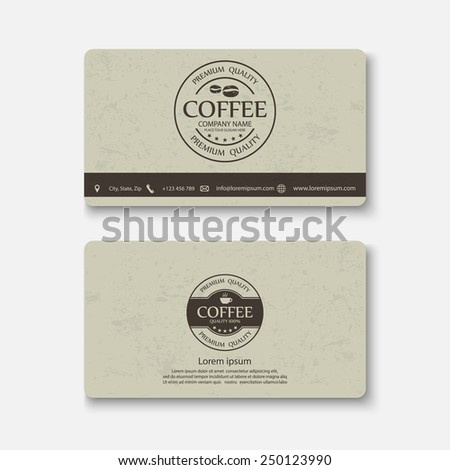 Business card template.vector - stock vector