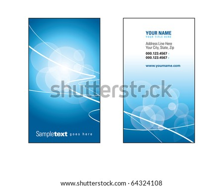 Business Card Template. Vector Illustration. - stock vector