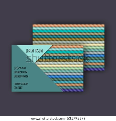 Business card template 3d paper colorful stock vector 2018 business card template with 3d paper colorful lines background flashek Choice Image
