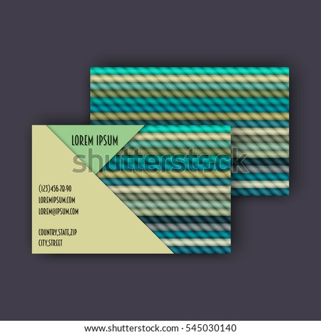 Business card template 3 d paper colorful stock vector hd royalty business card template with 3d paper colorful lines background wajeb Gallery