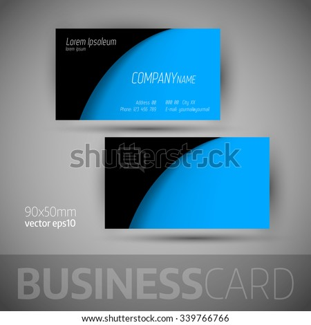 Business card template sample texts elegant stock vector 339766766 business card template with sample texts elegant vector design elements reheart Image collections