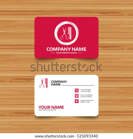 Business card template texture comb hair stock vector hd royalty business card template with texture comb hair with scissors sign icon barber symbol colourmoves