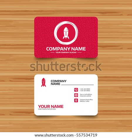 Business card template texture start icon stock vector 557534719 business card template with texture start up icon startup business rocket sign phone colourmoves Choice Image
