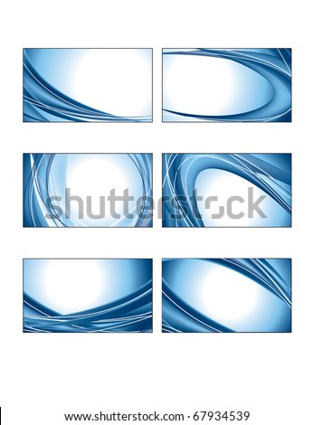 Business Card Templates. Illustration in eps10 format. - stock vector