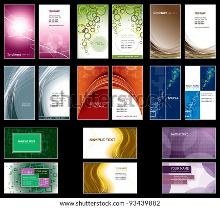 Business Card Templates. Vector Design.