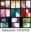 Business Card Templates. Vector Design. Eps10 Format. - stock vector