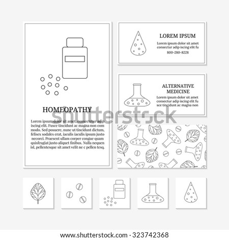 Pharmacy christmas cards quirky and funny pharmacist christmas business card templates outline medical icons stock vector reheart Image collections