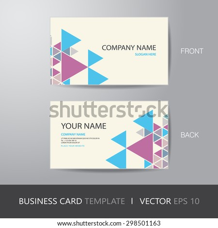 Business card triangle abstract background design stock vector hd business card triangle abstract background design layout template with bleed vector eps10 cheaphphosting Image collections