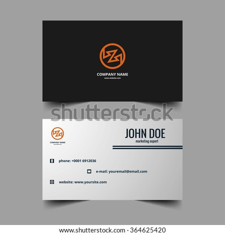 Business card vector design presentation background - stock vector
