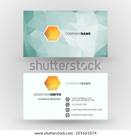 Business card vector design template background - stock vector