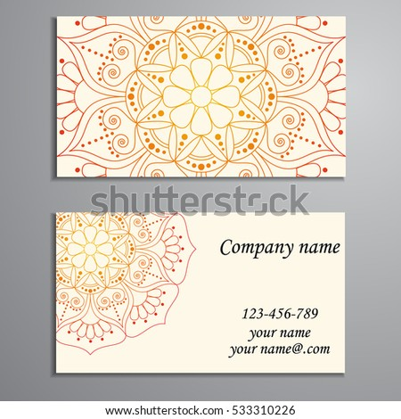 Business card vintage decorative elements ornamental stock vector business card vintage decorative elements ornamental floral business cards oriental pattern vector reheart Gallery