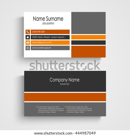 Business card colored stripes stock vector 444987049 shutterstock business card with colored stripes reheart Image collections