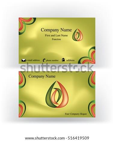 Business card drop shape logo holding stock vector 516419509 business card with drop shape logo holding inside an abstract o letter colourmoves