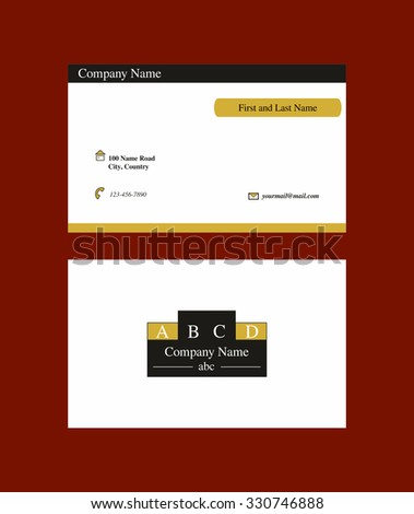 Business card with geometric logo included - stock vector