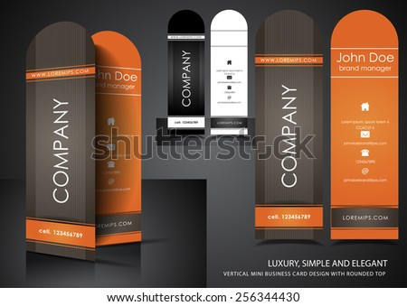 Business card with rounded top - stock vector