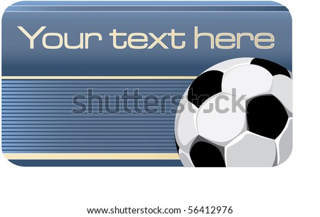 business card with the image of football