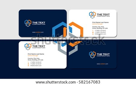 Business cards construction industry colored hexagons stock vector business cards construction industry colored hexagons creative design reheart Image collections