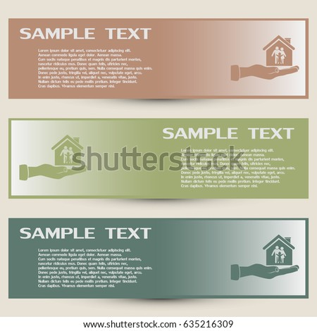 Business cards design concept illustration safety stock vector business cards design concept illustration of safety of a house reheart Image collections