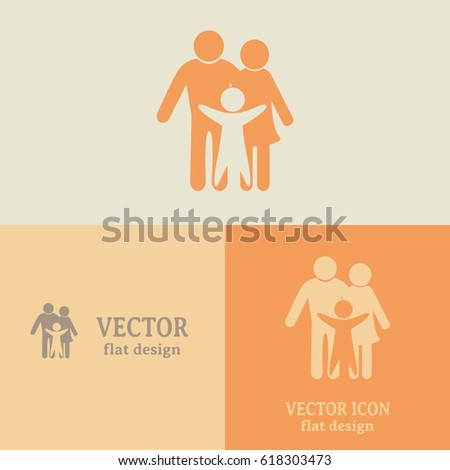 Business cards design happy family icon stock vector 618303473 business cards design happy family icon in simple figures dad mom and child colourmoves