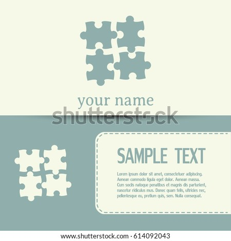 Business cards design puzzle vector icon stock vector 614092043 business cards design puzzle vector icon colourmoves