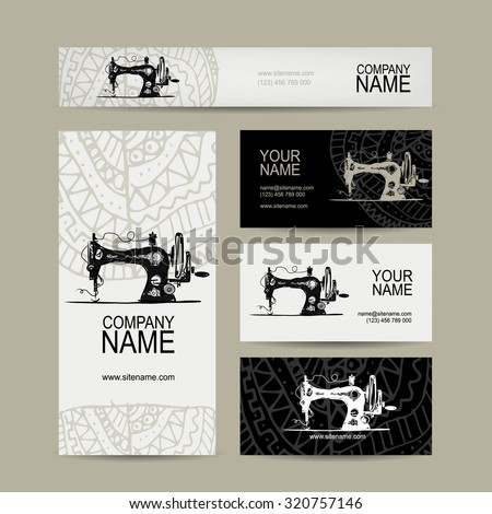 Business cards design sewing maschine sketch stock vector hd business cards design sewing maschine sketch vector illustration colourmoves