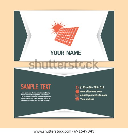 Business cards design solar panel vector stock vector 691549843 business cards design solar panel vector icon colourmoves Image collections