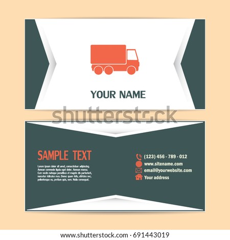 Business cards design vector illustration truck stock vector business cards design vector illustration of a truck colourmoves