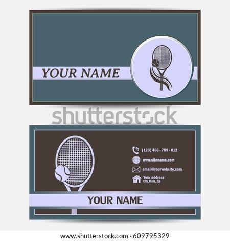 Business cards design vector illustration tennis club stock vector business cards design vector illustrationtennis club colourmoves