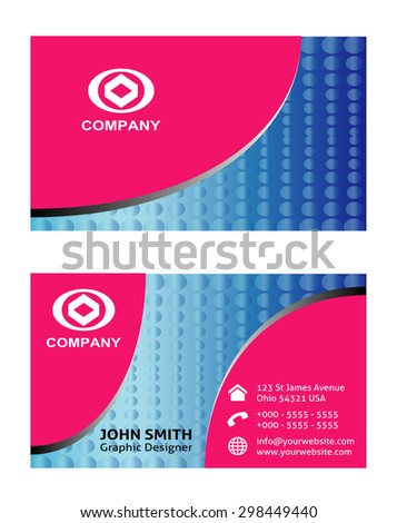 Business cards design vector template  - stock vector