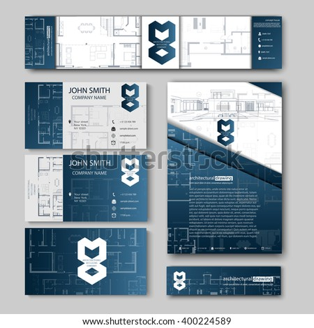 Business cards design cityscape sketch architectural stock vector business cards design with cityscape sketch for architectural company architectural background for architectural project colourmoves
