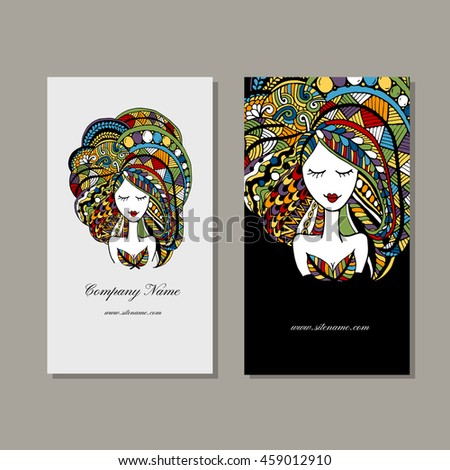 Business cards design zenart female portrait stock photo photo business cards design zenart female portrait colourmoves Choice Image