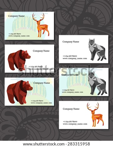 Business Cards. Ecology Concept Illustration.