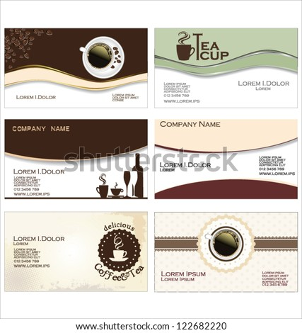 Business cards cafe restaurant stock vector royalty free 122682220 business cards for cafe and restaurant reheart Choice Image