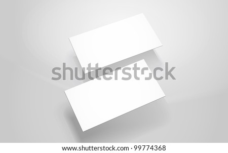 Business cards layout - stock vector