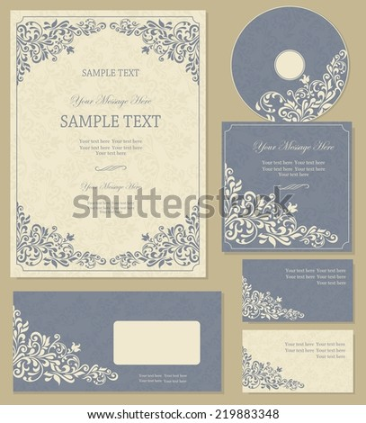 business cards or invitations with abstract background for any occasion  - stock vector