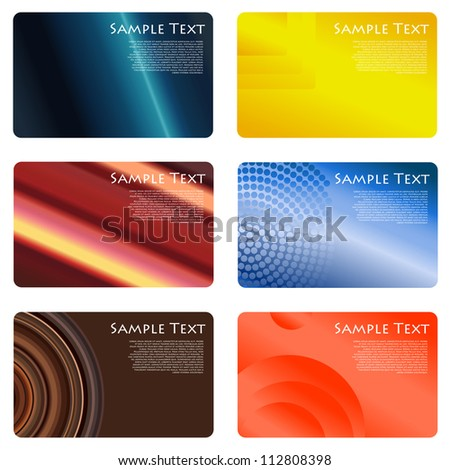 Business cards set - stock vector
