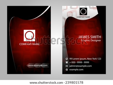 Business cards set vector  - stock vector