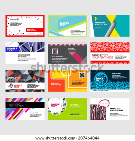 business cards template  - stock vector