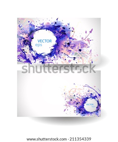 Business cards template abstract spray paint stock vector hd business cards template abstract spray paint colorful watercolor colourmoves