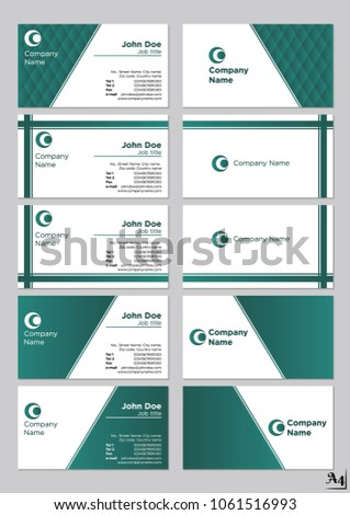 Business cards vector template turquois 300 stock vector 1061516993 business cards vector template turquois 300 dpi max quality colourmoves